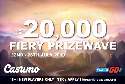 Casumo Casino 20K Fiery Prizewave Promo