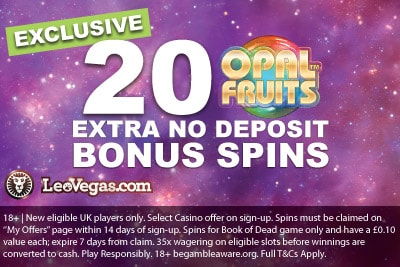 LeoVegas Casino Opal Fruits Free Spins