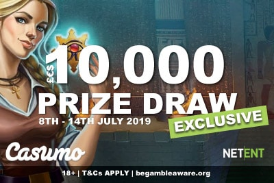 10K NetEnt Exclusive Real Cash Prize Draw At Casumo Casino