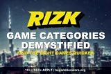 Rizk Casino Game Categories Demystified