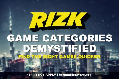Rizk Casino Game Categories Demystified