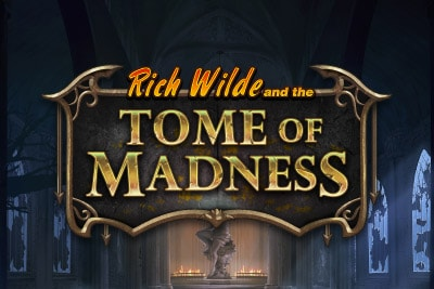 Rich Wilde Tome of Madness Mobile Slot Logo