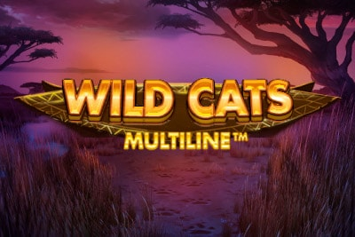 Wild Cats Multiline Mobile Slot Logo