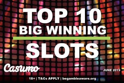 Casumo Casino Slots With Big Wins In June 2019