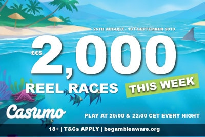 2K Casumo Reel Race Slot Tournaments Every Night This Week