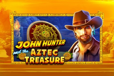 John Hunter and the Aztec Treasure Mobile Slot Logo