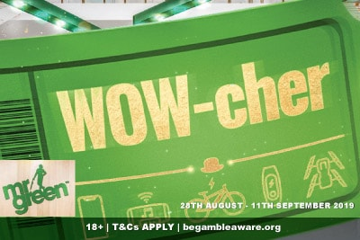 Mr Green Online Casino WOW-cher Promotion