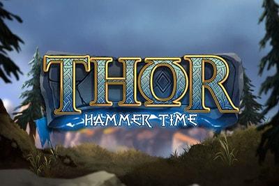 Thor Hammer Time Mobile Slot Logo