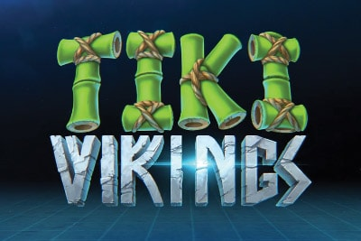 Tiki Vikings Mobile Slot Logo