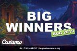 Casumo Slots Big Winners August 2019