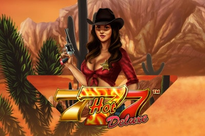 Hot 777 Deluxe Mobile Slot Logo