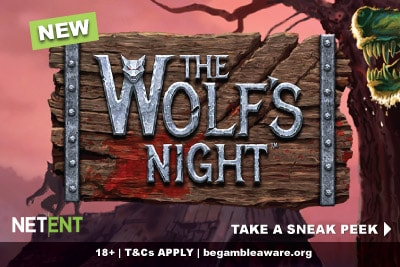 New NetEnt The Wolf's Night Mobile Slot Preview