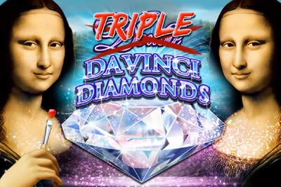 Triple Double Da Vinci Diamonds Mobile Slot Logo