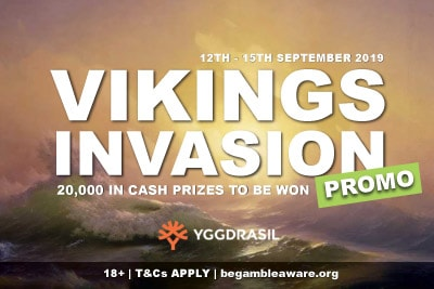 Yggdrasil Vikings Invasion Promo - Win Real Cash Prizes