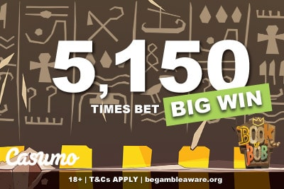 Book of Bob Slot Big Win At Casumo Casino