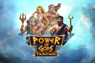 Power Of Gods The Pantheon Mobile Slot Logo