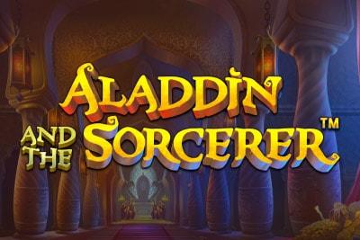 Aladdin And The Sorcerer Mobile Slot Logo