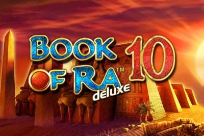 Book of Ra Deluxe 10 Mobile Slot Logo