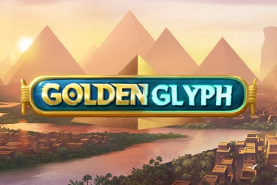 Golden Glyph Mobile Slot Logo