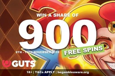 GUTS Casino Free Spins Bonus On Fire Joker