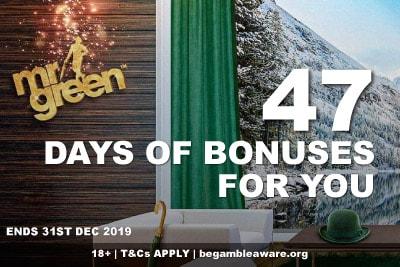 47 Mr Green Casino Christmas Bonuses For You