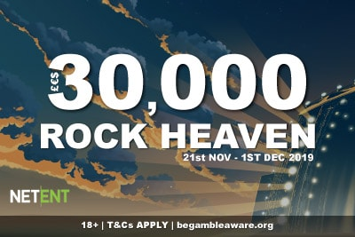NetEnt Casinos 30K Rock Heaven Promo