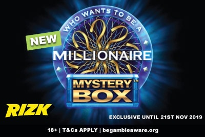 Play New WWTBAM Mystery Box Slot At Rizk Casino