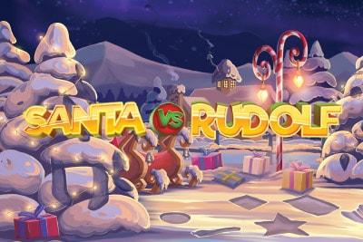 Santa Vs Rudolf Mobile Slot Logo