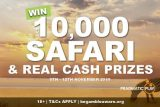 Win A 10K Safari Or Real Money Prizes At GUTS