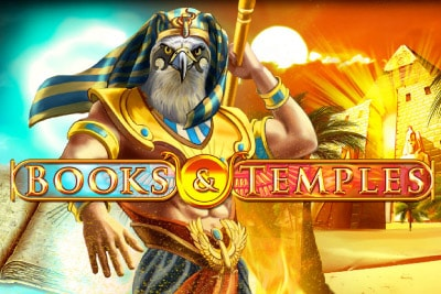 Books & Temples Mobile Slot Logo