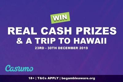 Win Cash Prizes & Trip To Hawaii At Casumo Casino