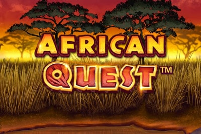 African Quest Mobile Slot Logo