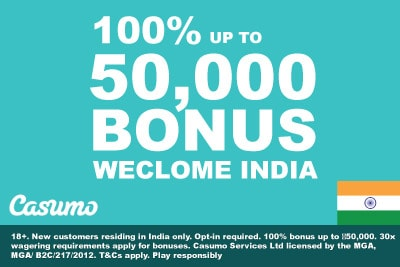 Casumo Casino India Casino Bonus