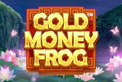 Gold Money Frog Mobile Slot Logo