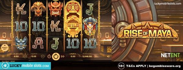 NetEnt Rise of Maya Slot With Wilds sul desktop