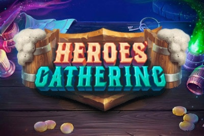 Heroes Gathering Mobile Slot Logo