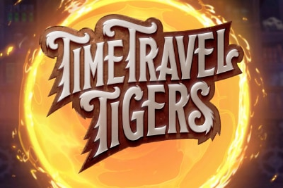 Time Travel Tigers Mobile Slot Logo