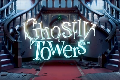 Ghostly Towers Mobile Slot Logo