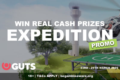 Win Real Money Prizes - GUTS Expedition Promo March