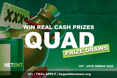 NetEnt Casinos Cash Prize Draws