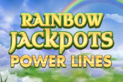 Rainbow Jackpots Power Lines Slot Logo