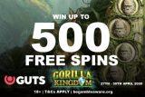 Win Your GUTS Gorilla Kingdom Free Spins