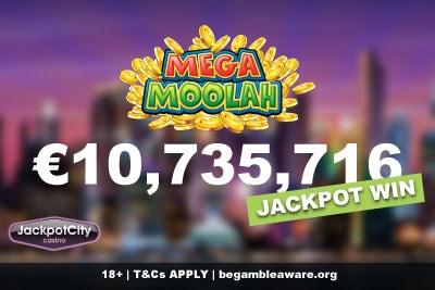 Jackpot City Casino Mega Moolah Jackpot Win