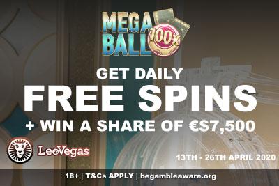LeoVegas Mega Ball Free Spins