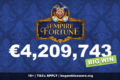German Slots Player Wins Empire Fortune Jackpot