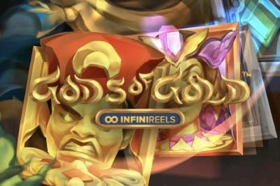 Gods of Gold Infinireels Mobile Slot Logo