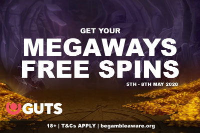 Get Your GUTS Megaways Free Spins