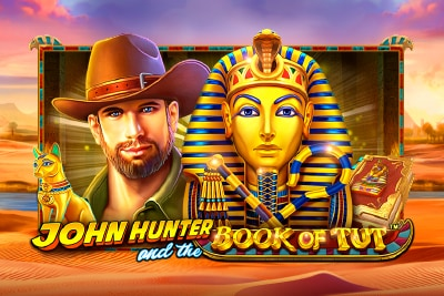 John Hunter And The Book of Tut Mobile Slot Logo