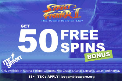 Get Your Mr Green Street Fighter 2 Slot Free Spins