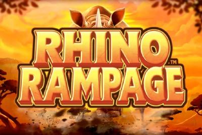 Rhino Rampage Mobile Slot Logo